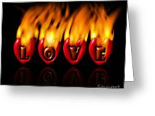 Burning Love  Brennende Liebe  Greeting Card