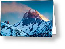 Burning Peak Greeting Card