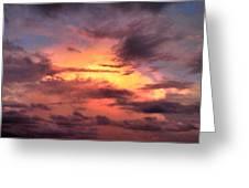 Burning Sky Greeting Card