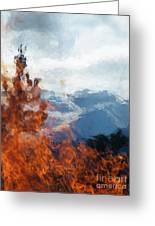 Burning The Winter Blues Away Greeting Card