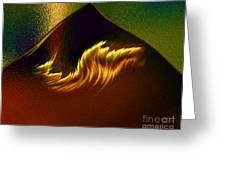 Burning Winds Across The Sahara  Greeting Card
