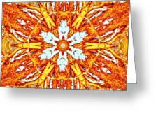 Burning Winter Greeting Card