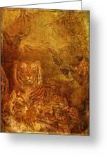 Burnished Tigers Greeting Card