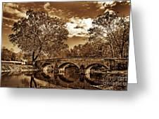 Burnside Bridge At Antietam - Toned Greeting Card