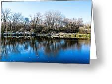 Burnsville Pond Greeting Card