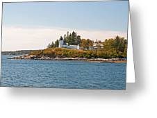 Burnt Island Lighthouse Greeting Card