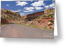 Burr Trail Road Through Long Canyon Greeting Card