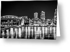 Burrard Bridge At Night Greeting Card