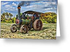 Burrell Steam Engine  Greeting Card