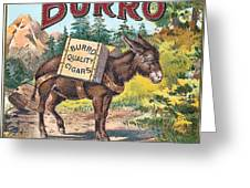 Burro Quality Of Cigars Label Greeting Card