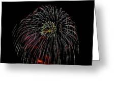 Burst Of Fireworks Greeting Card