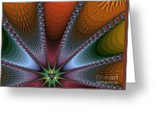Bursting Star Nova Fractal Greeting Card