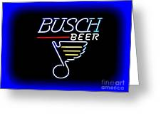Busch And The Blues Edited Greeting Card