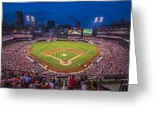 Busch Stadium St. Louis Cardinals Night Game Greeting Card