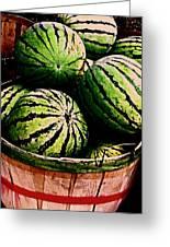 Bushel Full Of Melons Greeting Card