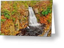 Bushkill Falls Pa Greeting Card
