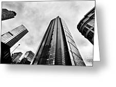 Business Architecture Skyscrapers In London Uk Greeting Card