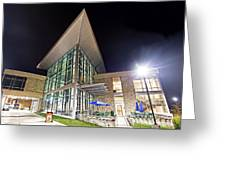 Business Building At Night Greeting Card