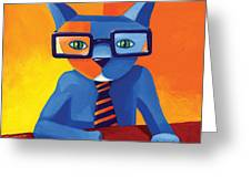 Business Cat Greeting Card