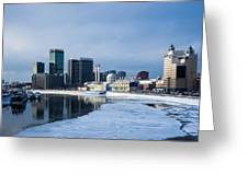Business District Of Moscow Greeting Card