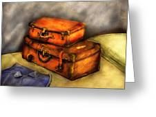 Business Man - Packed Suitcases Greeting Card