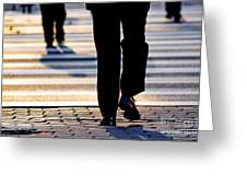 Business People Background Greeting Card