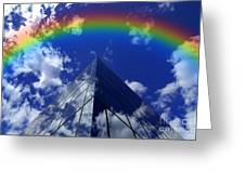 Business Rainbow And Rays Of Light Greeting Card