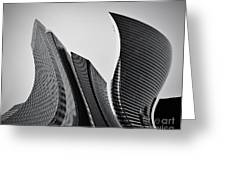 Business Skyscrapers Abstract Conceptual Architecture Greeting Card by Michal Bednarek