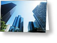 Business Skyscrapers Greeting Card by Michal Bednarek