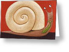 Business Snail Painting Greeting Card