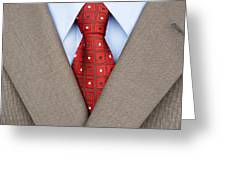 Business Suit Greeting Card