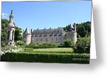 Bussy - Rabutin Palace Garden  Greeting Card