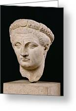 Bust Of Emperor Claudius Greeting Card
