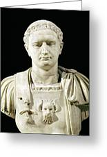 Bust Of Emperor Domitian Greeting Card by Anonymous
