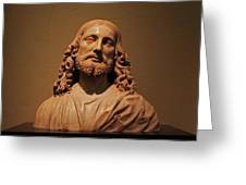 Bust Of Jesus Christ At Mfa Greeting Card