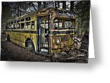 Bus'ted Greeting Card by Ken Johnson