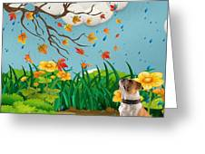 Buster And The Tree Greeting Card