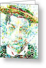 Buster Keaton - Watercolor Portrait Greeting Card