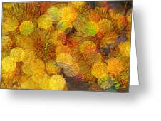 Busy Bee In The Marigolds Greeting Card
