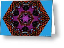 Busy  Bee Kaleidoscope Greeting Card