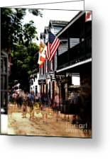 Busy St George Street Greeting Card