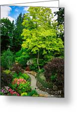 Butchart Gardens Pathway Greeting Card