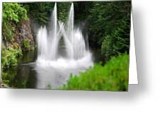 Butchart Gardens Waterfalls Greeting Card