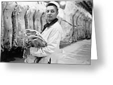Butcher, 1949 Greeting Card