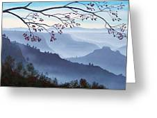 Butte Creek Canyon Mural Greeting Card