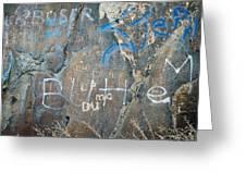 Butte Graffiti Greeting Card