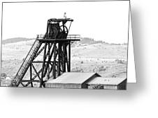 Butte Mine Shaft Greeting Card