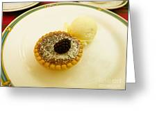 Butter Tart With Ice Cream Greeting Card