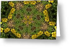 Buttercup Kaleidoscope Greeting Card