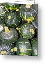 Buttercup Winter Squash On Display Greeting Card